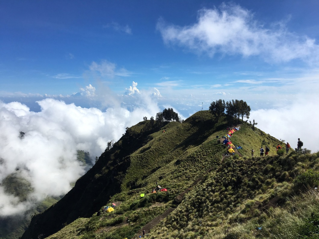 Rinjani Base Camp clouds